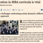 François co-authors article in Financial Times calling for the redefinition of MBA curricula for Gen Y leaders